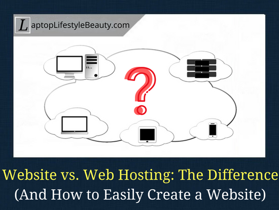 Post on the difference between a website and web hosting (and how to easily create a website for beginners)